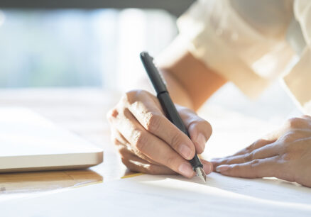 asian business woman signing contract document making deal 1